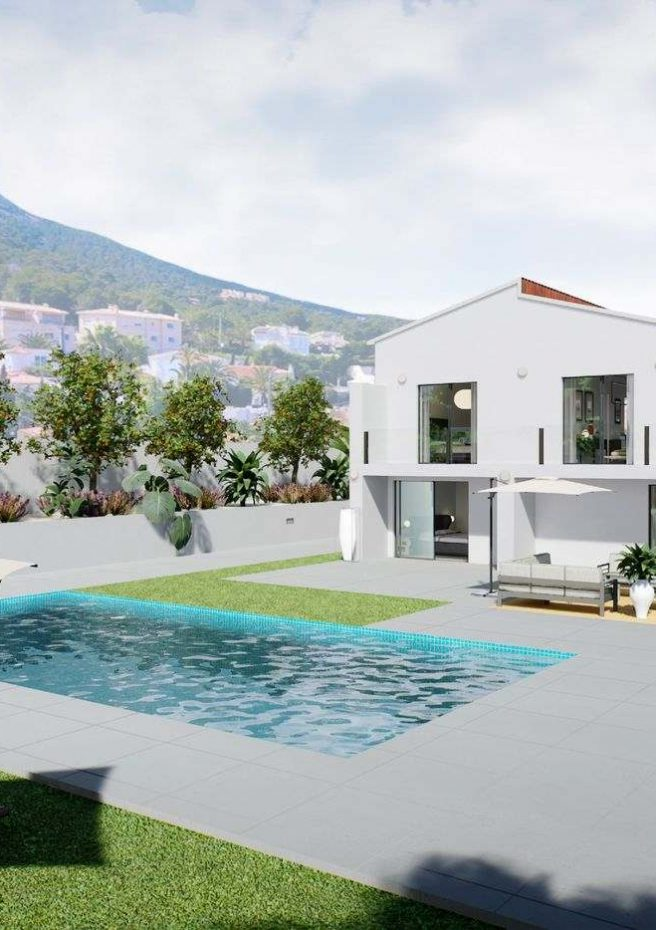 Villa Lleons 7 - Jardín piscina 2