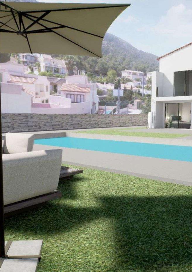 Villa Lleons 7 - Jardín piscina