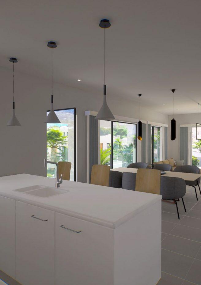 Villa Lleons 7 - Salón comedor cocina primera planta 3