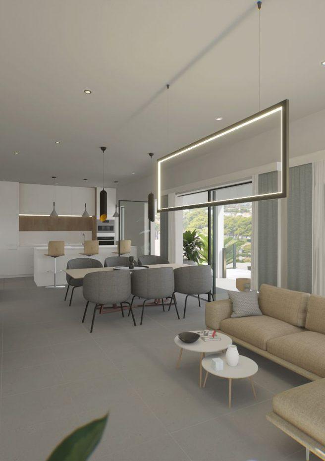 Villa Lleons 7 - Salón comedor cocina primera planta